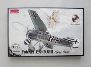 RODEN 1/72 004 FOKKER E.V/D.VIII FLYING RAZOR