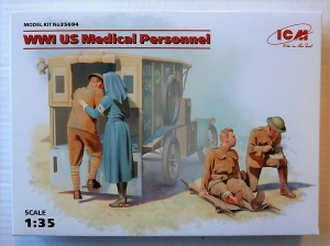 ICM 1/35 35694 WWI US MEDICAL PERSONNEL