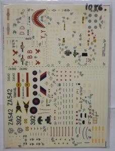 MODELDECAL 1/72 1086. 73 TORNADO GR1 PHANTOM FGR2S 1983 GREENHAM COMMON IAT