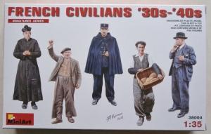 MINIART 1/35 38004 FRENCH CIVILIANS 1930s-40s