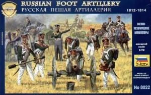 ZVEZDA 1/72 8022 RUSSIAN FOOT ARTILLERY 1812