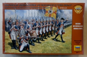 ZVEZDA 1/72 8071 PRUSSIAN GRENADIERS OF FREDERICK II THE GREAT