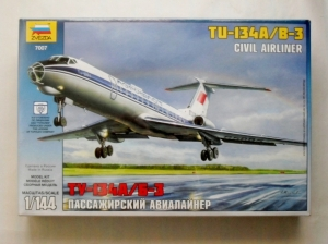 ZVEZDA 1/144 7007 Tu-134A/B-3 CIVIL AIRLINER
