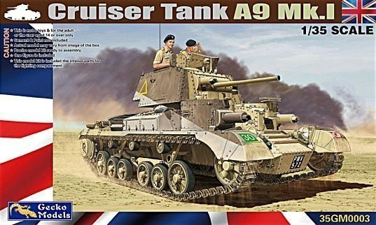 GECKO MODELS 1/35 350003 CRUISER TANK A9 MK.I
