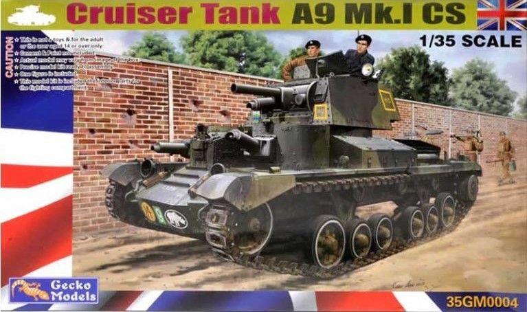 GECKO MODELS 1/35 350004 CRUISER TANK A9 MK.I CS