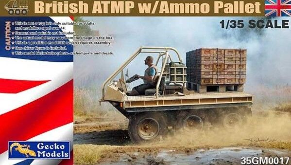 GECKO MODELS 1/35 350017 BRITISH ATMP WITH AMMO PALLET