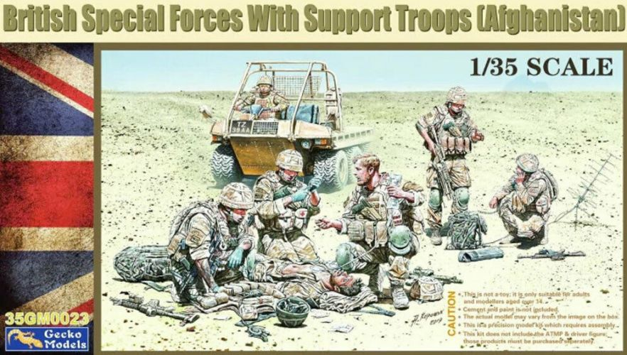 GECKO MODELS 1/35 350023 BRITISH SPECIAL FORCES WITH SUPPORT TROOPS  AFGHANISTAN