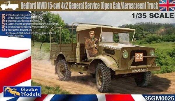 GECKO MODELS 1/35 350025 BEDFORD MDW 15-CWT 4X2 GENERAL SERVICE  OPEN CAB/AEROSCREEN  TRUCK