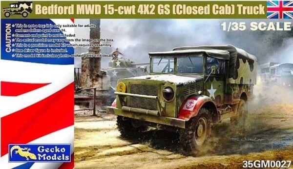 GECKO MODELS 1/35 350027 BEDFORD MWD 15-CWT 4X2 GS  CLOSED CAB  TRUCK