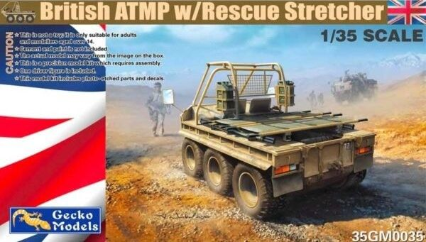 GECKO MODELS 1/35 350035 BRITISH ATMP WITH RESCUE STRETCHER