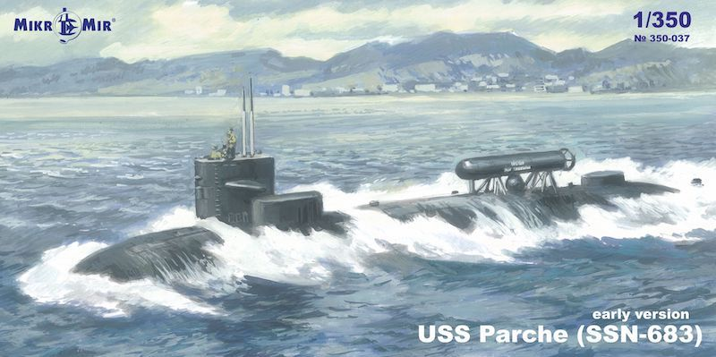 MICRO-MIR 1/350 350037 USS PARCHE  SSN-683