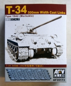 AFV CLUB 1/35 35173 T-34 500mm WIDTH CAST LINKS TYPE 1942  WORKABLE