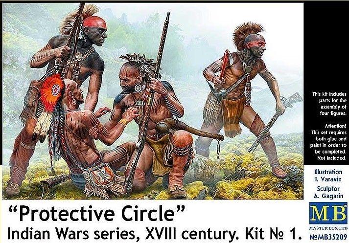 MASTERBOX 1/35 35209 PROTECTIVE CIRCLE NO 1 INDIAN WAR SERIES