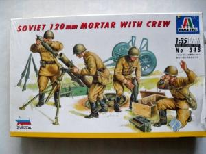 ITALERI 1/35 348 SOVIET 120mm MORTAR WITH CREW