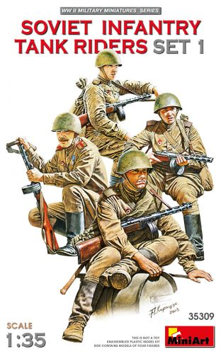 MINIART 1/35 35309 SOVIET INFANTRY TANK RIDERS SET 1
