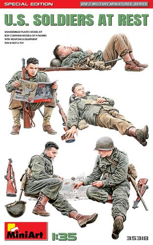 MINIART 1/35 35318 U.S. SOLDIERS AT REST