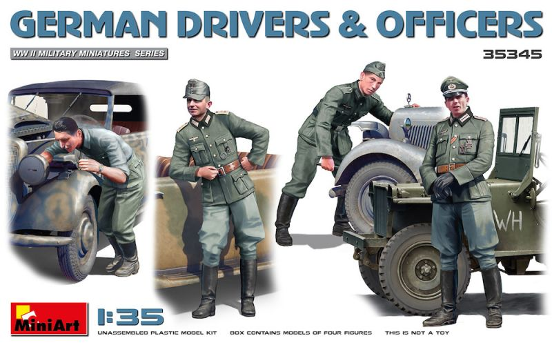 MINIART 1/35 35345 GERMAN DRIVERS   OFFICERS
