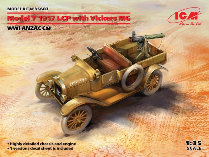 ICM 1/35 35607 MODEL T 1917 LCP WITH VICKERS MG
