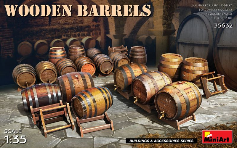 MINIART 1/35 35632 WOODEN BARRELS