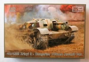 IBG MODELS 1/72 72051 40/43M ZRINYI II HUNGARIAN 105mm ASSAULT GUN