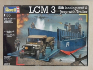 REVELL 1/35 03000 LCM 3 50ft LANDING CRAFT   JEEP WITH TRAILER
