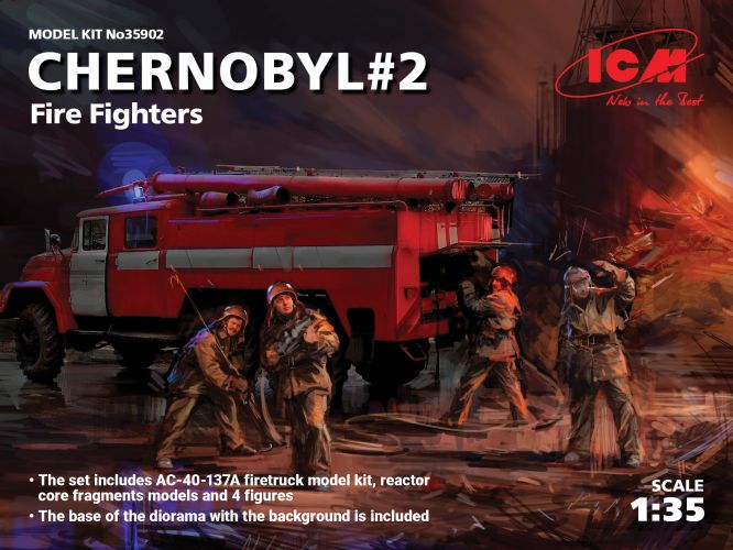 ICM 1/35 35902 CHERNOBYL  2 FIRE FIGHTERS
