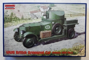 RODEN 1/72 731 WWII BRITISH ARMOURED CAR PATTERN 1920 Mk.I