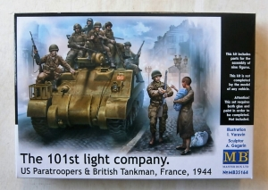 MASTERBOX 1/35 35164 THE 101st LIGHT COMPANY. US PARAS   BRITISH TANKMAN FRANCE 1944