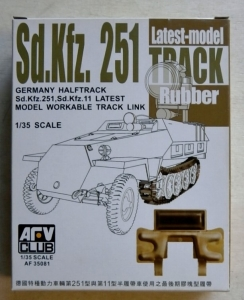 AFV CLUB 1/35 35081 Sd.Kfz.251 LATEST MODEL RUBBER TYPE TRACK