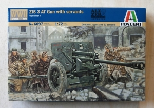 ITALERI 1/72 6097 ZIS 3 ANTI-TANK GUN WITH CREW