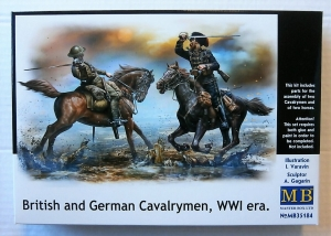 MASTERBOX 1/35 35184 BRITISH   GERMAN CAVALRYMEN WWI ERA