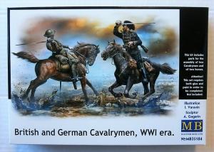 MASTERBOX 1/35 35184 BRITISH   GERMAN CAVALRYMEN WWI ERA