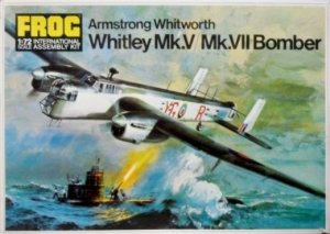 FROG 1/72 F207 ARMSTRONG WHITWORTH WHITLEY Mk.V or Mk.VII