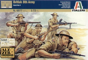 ITALERI 1/72 6077 WWII BRITISH 8th ARMY