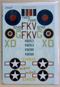 XTRADECAL 1/32 32059 DE HAVILLAND MOSQUITO B Mk.IV BXX TIII