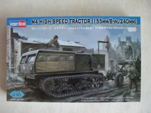 HOBBYBOSS 1/35 82408 M4 HIGH SPEED TRACTOR  155mm/8in./240mm