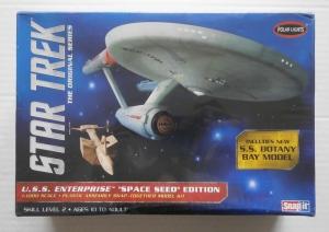 POLAR LIGHTS 1/1000 908 STAR TREK USS ENTERPRISE SPACE SEED EDITION