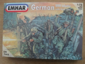 EMHAR 1/72 7203 WWI GERMAN INFANTRY WITH TANK CREW
