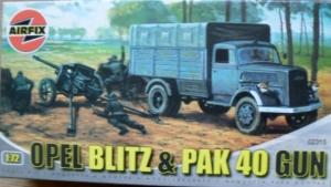 AIRFIX 1/76 02315 OPEL BLITZ   PAK 40 GUN