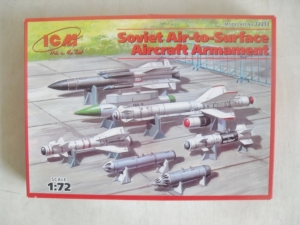 ICM 1/72 72213 SOVIET AIR TO SURFACE AIRCRAFT ARMAMENT