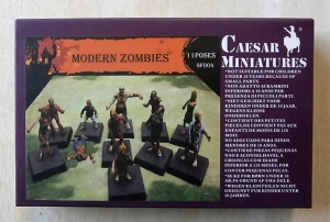 CAESAR MINATURES 1/72 SF004 MODERN ZOMBIES