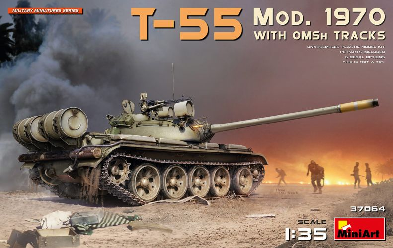 MINIART 1/35 37064 T-55 MOD. 1970 WITH OMSH TRACKS