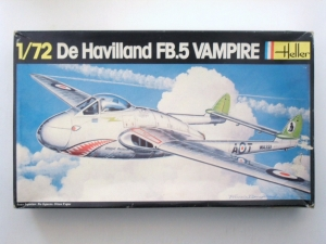 HELLER 1/72 283 De HAVILLAND VAMPIRE FB.5
