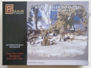 PEGASUS HOBBIES 1/72 7271 WWII RUSSIAN INFANTRY IN GREATCOATS