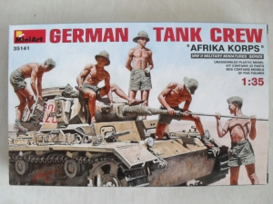 MINIART 1/35 35141 GERMAN TANK CREW AFRIKA KORPS