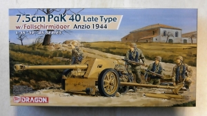 DRAGON 1/35 6250 7.5cm PAK 40 LATE TYPE WITH FALLSCHIRMJAGER ANZIO 1944