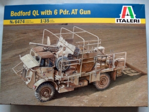 ITALERI 1/35 6474 BEDFORD QL WITH 6 pdr AT GUN