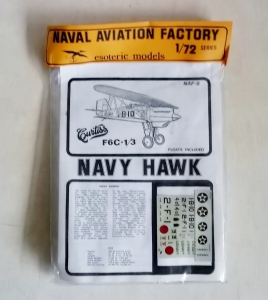 ESOTERIC 1/72 NAF-8 CURTISS F6C-1/3 NAVY HAWK