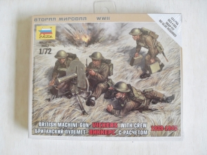 ZVEZDA 1/72 6167 BRITISH VICKERS GUN WITH CREW 1939-43