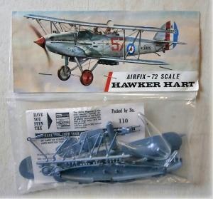 AIRFIX 1/72 1398 HAWKER HART  TYPE III BAG
